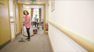 care home health and safety -cleaning