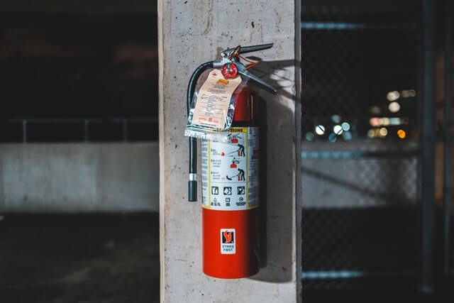 care home health and safety - fire extinguisher